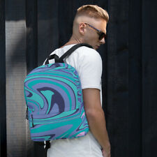 Blue and Purple Marble Design Backpack