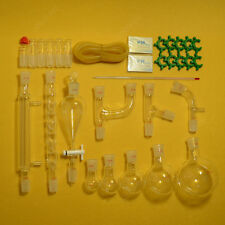 New Chemical Glassware kit,Lab Glass Set With Ground Joints 24/29,29PCS
