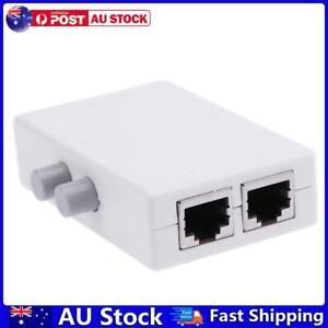 Mini 2 Port RJ45 Network Switch Ethernet Network Box Switcher Adapter HUB AU