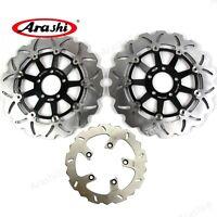 Front & Rear Brake Disc Rotors For Kawasaki ZRX-1100 ZRX1100 ZRX 1100 1999-2000