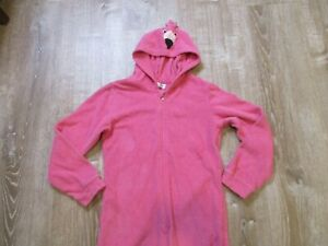 """The Original My """"Buddy"""" Towel Pink Flamingo zip up one piece hooded terry 5/6"""