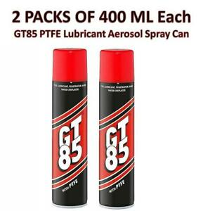 GT85 PTFE Lubricant Aerosol Spray Can Pack Of 2 400 ML Each Cycle Tools Home Car