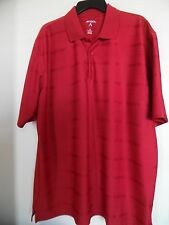 Antigua Mens Polo Golf Shirt Top Short Sleeve XL Extra Large Red Performance