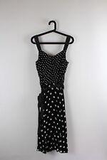 Calf Length Spotted Sleeveless Tea Dresses