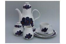 Heinrich Porzellan - Kaffeeservice für 6 Personen - blaue Blüten - 20 Teile