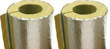 2 Isolierung f. Rauchrohr Abgasrohr Kamin 110 mm Alu Rauchrohrisolierung Heizung
