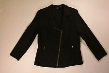 WOMEN'S 16W, BLACK, STRETCH, ZIP UP JACKET BY MOSSIMO, NEW!