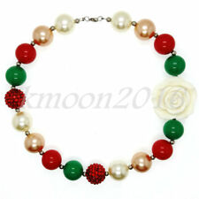 New red Chunky Beads Bubblegum Necklace for Kids Christmas Gift Gumball Necklace