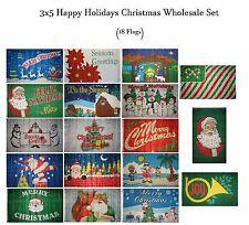 3x5 Merry Christmas 18 Flag Gift Set Wholesale Set 3'x5' House Banner Grommets