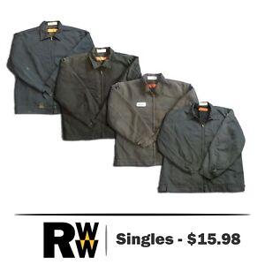 Red Kap Jacket Men Slash Pocket JT22 Navy / Charcoal / Brown/ Black Work Uniform