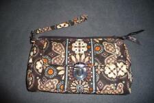 Vera Bradley Clutch Pushlock Wristlet ~ $42 Canyon Brown Floral Medallions
