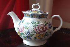 VINTAGE Sadler VICTORIA Design, Iconic English TEAPOT Pink Roses&Blue Flowers
