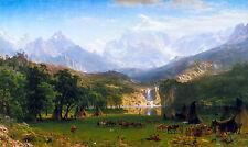 Albert Bierstadt, The Rocky Mountains, Lander's Peak Museum Poster, Canvas Print