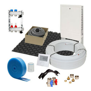 Fußbodenheizung 11 mm Noppensystem 20 qm Komplettset Alu-Verbund VA 15 cm RTD