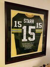 BART STARR Autographed Framed Stat Jersey TRISTAR Hologram #/15 Green Bay Packer