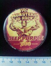 Pin Badge Underground USSR MONSTERS Of ROCK 1987 Russia DEEP PURPLE METALLICA