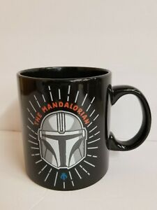 Star Wars The Mandalorian Ceramic 20oz Black Coffee Mug Microwave Dishwasher Saf