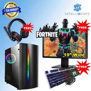 Fast Gaming PC Computer Bundle Intel Quad i3 8GB 500GB HDD Windows 10 2GB GT1030