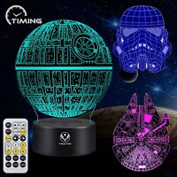 3D Night Light for Kids Illusion Lamp Toy 7 Colors Changing Dimmable with Smart
