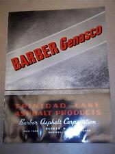 Vtg Barber Asphalt Corp Catalog~Genasco/Trinidad Lake Products~Asbestos~1939