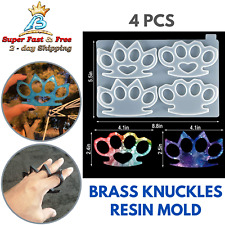 Brass Knuckles Resin Mold Finger Casting Molds Craft Keychain Jewelry Tags DIY