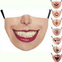 3D printing lovely Woman mouth facemask reusable luxury facemask smiley funny