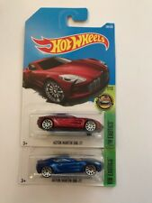 hot wheels aston martin one 77 Blue &red In Super Mint Long Card