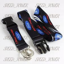For Ford Racing Mustang GT Cobra Jet Lanyard Keychain Quick Release Key Chain