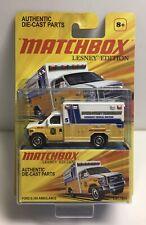 Matchbox 2011 Lesney Edition Yellow Ford E-350 Ambulance NOS Free Ship!