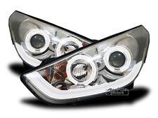 AuCo LED Light Tube Scheinwerfer Set Chrom Tagfahrlicht Optik für Hyundai IX35