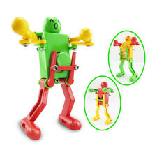 2X/lot Clockwork Spring Wind Up Toy Dancing Robot Toy for Children Kids Toy DSUK