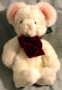 "9"" SEATED HEIGHT WHITE MOUSE BY RUSS TIC TOC NWT # 10133 NWT"