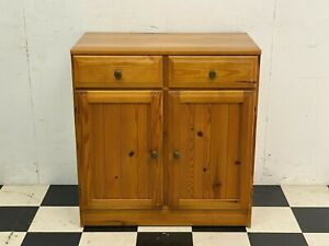 Ducal Country pine compact sideboard cabinet cupboard with two drawers -Delivery