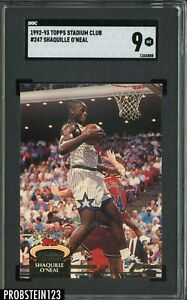 1992-93 Topps Stadium Club #247 Shaquille O'Neal Magic RC Rookie SGC 9 MINT