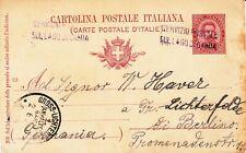 1894 CARTOLINA POSTALE DA MALCESINE RARO ANNULLO SERVIZIO POSTALE LAGO DI GARDA