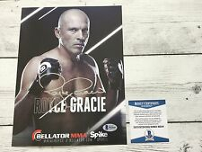 Royce Gracie Signed Bellator Promo Photo BAS Beckett COA Autographed c
