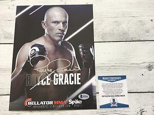 Royce Gracie Signed Bellator Promo Photo BAS Beckett COA Autographed c