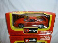 BBURAGO 4108 FERRARI F40  - 1987 - RED 1:43 - GOOD CONDITION IN BOX