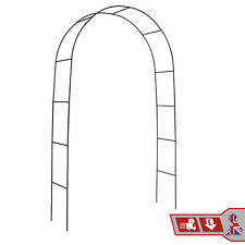 Garden Arch  2M Plant Climbing Trellis Metal Archway Arbour Arched Frame Tubular