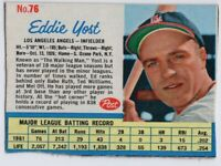 1962 Post #42 Eddie Yost VG-VGEX Los Angeles Angels