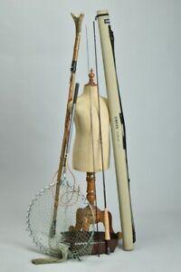 Anglers' Salmon Fly-Fishing Wading Staff, Landing Net & Greys 9ft Rod. XJB