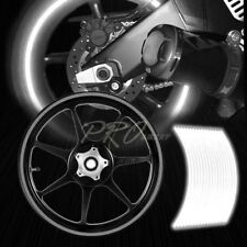 "16/17/18/19""Reflective Rims Tape/Wheel Rim Decal Stripes Sticker Glowing Silver"