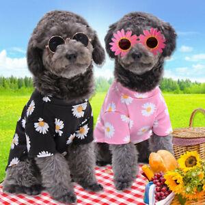 Pet Dog Shirt Floral Dog Vest Clothes Puppy Costume Cat T-Shirt Vest Coat Jacket