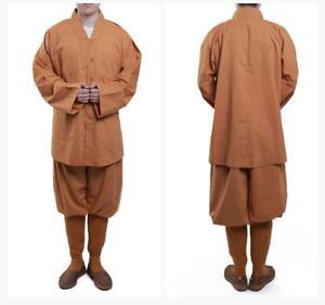 Shaolin Buddhist Monk Meditation Kung Fu Uniform Cotton Suit Temple Tai Chi sets