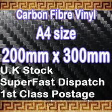 【3D CARBON FIBER】TEXTURED Vinyl Sheet Sticker Film Sheet A4 0.2m(7.9in)x 0.3m