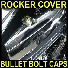 4 BRASS 44 MAG BULLET BOLT CAPS for HARLEY SPORTSTER ROCKER BOX BOLTS
