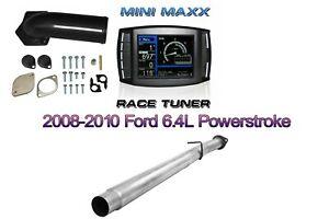 08-10 6.4L Mini MAXX Tuner Ford Powerstroke Diesel  E-GR & D-PF PIPE Full kit
