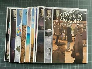 ABSTRACT STRANGERS IN PARADISE XXV #1-10 + FIVE YEARS #1-4