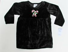 2T Kids Holiday Christmas Black Candy Cane Dress  NWT Flapdoodles LAST 1