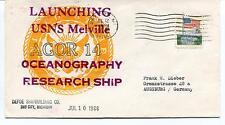1968 Launching USNS Melville AGOR 14 Defoe Shipbuilding Bay City Antarctic Cover